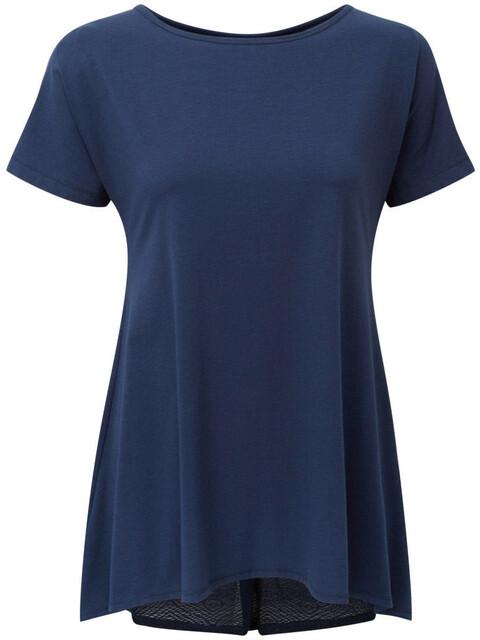 Sherpa Maya - Camiseta manga corta Mujer - azul